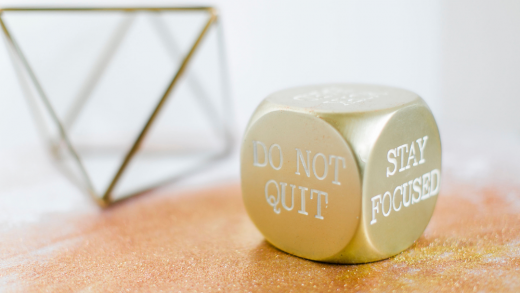 Not quitting on your goal